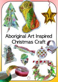 Aboriginal Art Inspired Christmas Craft