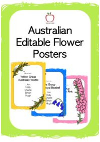Australian Flowers Editable Posters