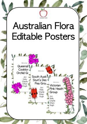 Australian Flora Editable Posters