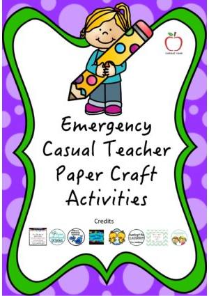 Emergency Casual Teacher Craft Activities