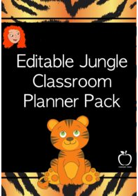 Editable Jungle Classroom Planner Pack