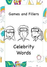 Celebrity Words Game