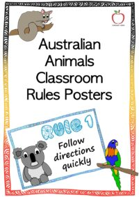 Australian Animals Rule Posters