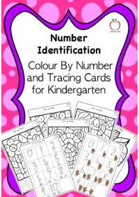 Kindergarten Colour by Number and Tracing Cards