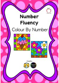 Number Fluency Colour By Number