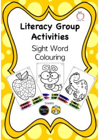 Colour by Sight Word