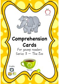 Comprehension Cards for Beginners - Series 3