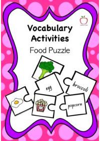 Vocabulary Food Puzzle