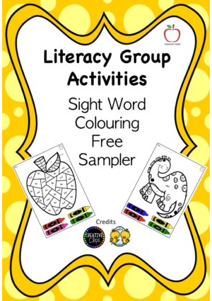 Colour by Sight Word - Free Sampler