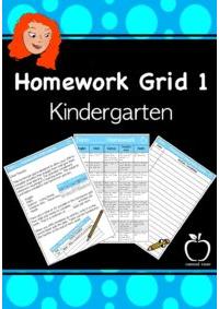 Homework Grid 1 for Kinder