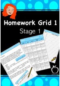 Homework Grid 1 for Stage 1