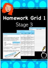 Homework Grid 1 for Stage 3