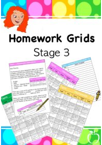 Homework Grids for Stage 3