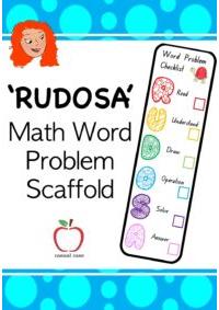 Word Problem Bookmark Scaffold