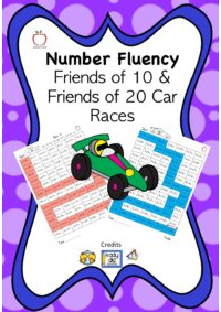 Number Fluency Car Races Booklet