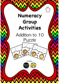 Addition to 10 Puzzle Cards
