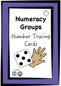 Number Tracing Cards - Dice Theme