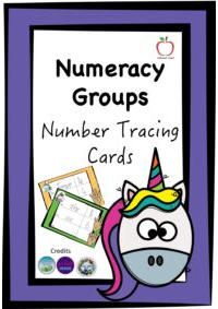 Number Tracing Cards - Unicorn Theme