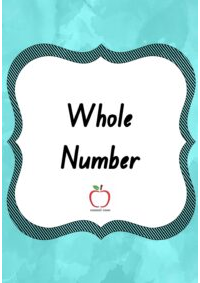 Whole Number Word Wall
