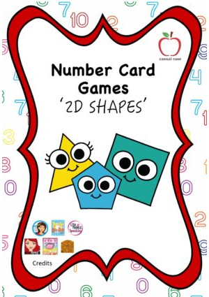 Number Card Game  - 2D Shapes
