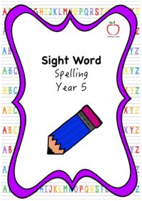 Sight Word Spelling Booklet - Year 5
