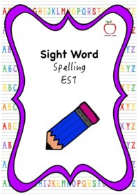 Sight Word Spelling Booklet - Early Stage 1