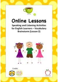 Vocabulary Brainstorm Online Booklet