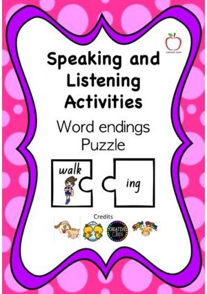 Word Endings Puzzle