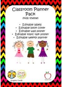Editable Kids Classroom Planner Pack