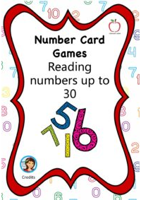 Number Card Game  - Numbers to 30 (written numbers)